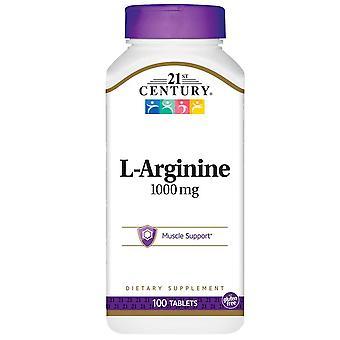 21st century l-arginine, 1000 mg, tablets, 100 ea