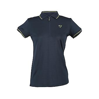 Shires Aubrion Parsons Womens Tech Polo Shirt - Navy Blue