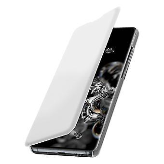 Housse Samsung Galaxy S20 Étui Portefeuille Clapet Porte-carte Blanc Écru