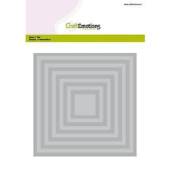 CraftEmotions Big Nesting Die - بطاقة المربعات 150x160 - 6،6-15،0cm (04-20)