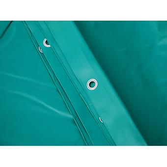 Afdekzeil 6x8m, PVC 570g/m², Groen