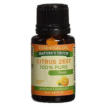 Natur's Wahrheit Aromatherapie 100% reines ätherisches Öl, Zitrusschale, 0,5 oz