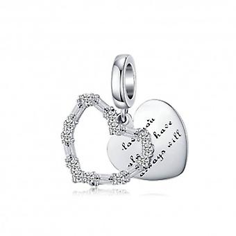 Sterling Silver Pendant Charm Love You, Always Have, Always Will - 6190
