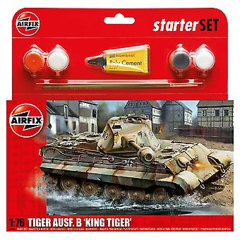 Airfix A55303 1:76 P-KW VI Ausf.B King Tiger Tank Starter Set Modello Kit