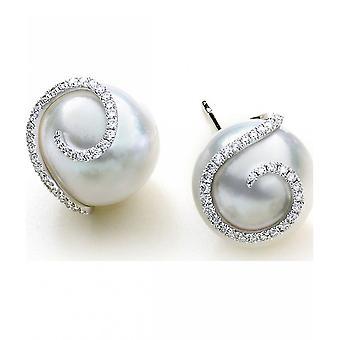 Luna-Pearls - Earrings - South Seas - White Gold 750 South SeaS Bead 12-13 mm