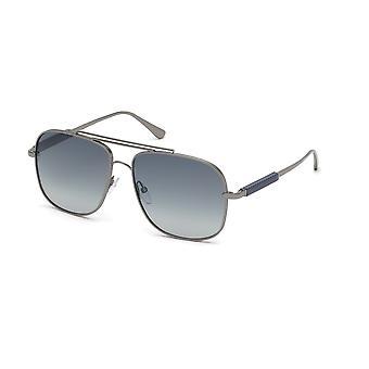 Tom Ford Jude TF669 12W glänzend dunkel Ruthenium/Blau Gradient Sonnenbrille