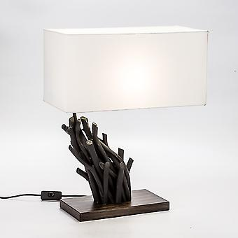 Modern Home Angled Driftwood Nautical Wooden Table Lamp - Blackwood