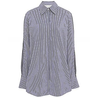 Victoria Beckham Stripe Split Sleeve Shirt