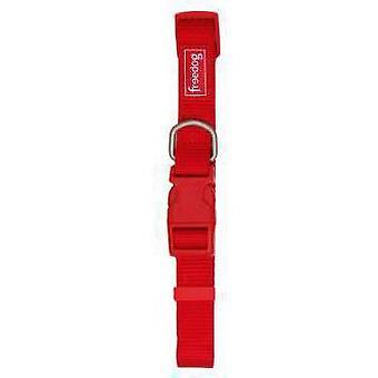 Freedog Basic rood 10mm Nylon halsband (honden halsbanden, Leads en harnassen, kragen)