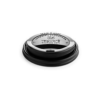 Vegware Compostable Black Hot Cup Lids 10-20oz