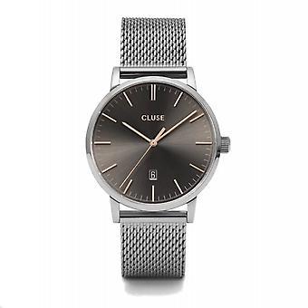 Cluse CW0101501003 Aravis Dark Grey Dial Mesh Wristwatch