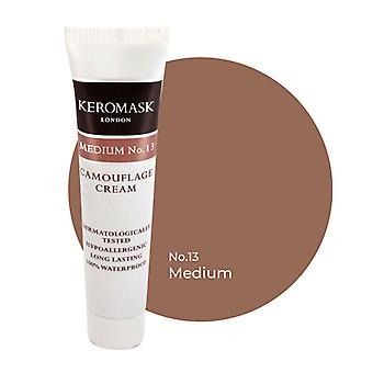 Keromask Full Cover Concealer Medium No 13 | Waterproof Camouflage Makeup | Hypoallergenic | 15ml