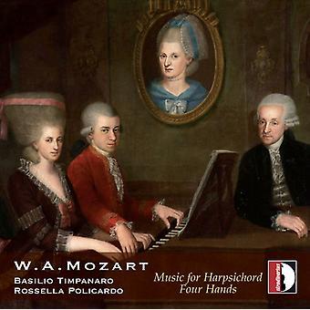 Mozart / Basilio Timpanaro - Mozart: Music for Harpsichord Four Hands [CD] USA import