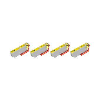 RudyTwos 4 x produit compatible pour Epson 33XL(Orange) encre unité jaune Compatible avec Expression Premium XP-530, 540-XP, XP-630, XP-635, 640-XP, XP-645, XP-830, XP-900