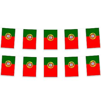 Portugal Bunting 5m Polyester Fabric Football Sport Country