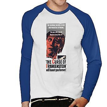 Hammer Horror films Frankenstein zal u voor altijd de mannen ' s honkbal lange mouwen T-shirt Haunt