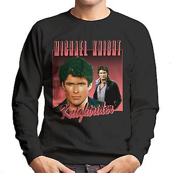 Knight Rider Michael Knight Retro Montage Men's Sweatshirt