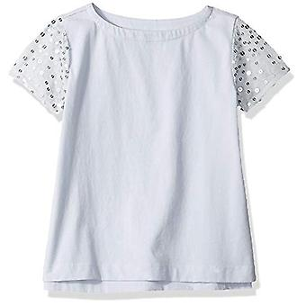 / J. Crew Brand- LOOK par Crewcuts Girls-apos; Sequin Sleeve Tee, Blue/Silver...