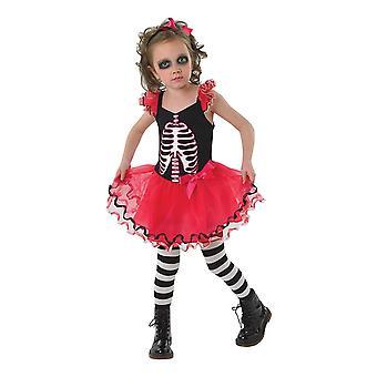 Bristol Novelty Girls Skull Tutu Costume