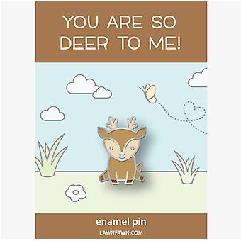 Lawn Fawn Hello, Deer Enamel Pin