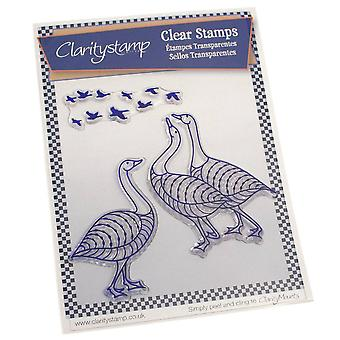 Claritystamp Geese Clear Stamps & Máscara