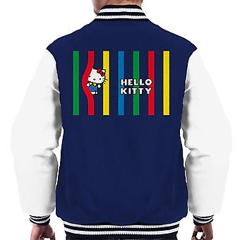 Hello Kitty Multicoloured Lines Men's Varsity Jacket