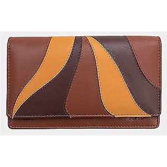 Primehide Bolsa de couro Mulheres RFID Bloqueando grande carteira de cartão senhoras 6183
