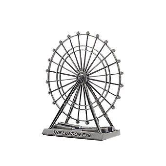 Vintage Alloy Ferris Wheel Model Ornament Silver