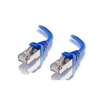 Astrotek Cat6A Boucliered Ethernet Cable Blue Color
