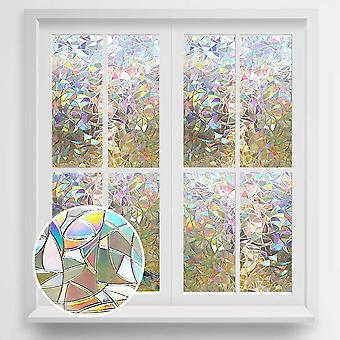 3d Privacy, Decorative Glass Rainbow Effect -  Removable Window Sticker