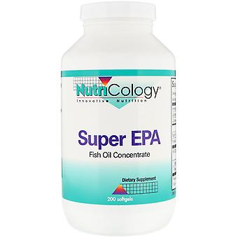 Nutricology, Super EPA, Fish Oil Concentrate, 200 Softgels