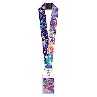 Lanyard Disney Princess Lead Heart Purple w/Deluxe Card Holder 86248