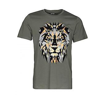 Antony Morato T-paita leijona painatus vihreä