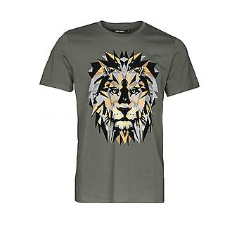 Antony Morato T-shirt met Lion Print Green