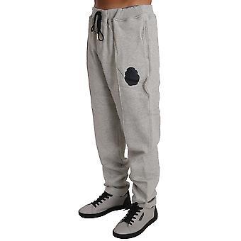 Šedý bavlnený sveter nohavice tepláková súprava BIL1054-2