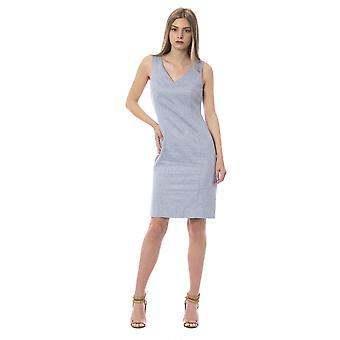 Trussardi Jeans U Blue Dress TR996586-IT40-XS