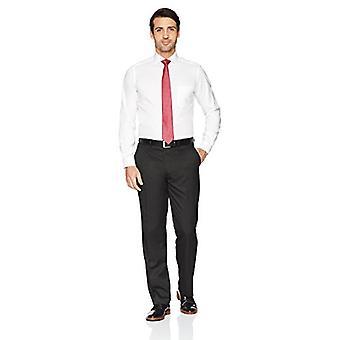 KNAPPET NED Men's Skræddersyet Fit Cutaway-Collar Solid Ikke-Jern Kjole Shirt (P...