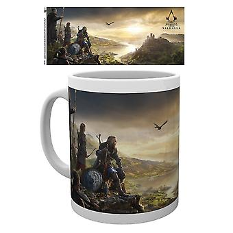 Assassin's Creed cup Valhalla Vista printed, made of ceramic, socket÷gen approx. 300 ml., in gift box.