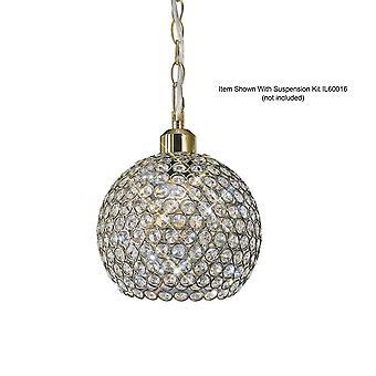 Crystal Globe SHADE TYLKO Antyczny mosiądz, Kryształ
