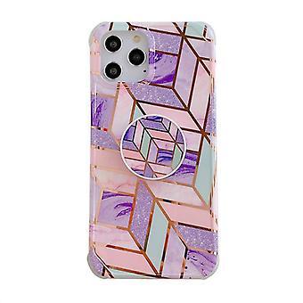 Iskunkestävä mobiilikotelo pidikkeellä, iPhone 11 Pro - violetti