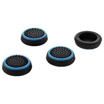 Thumb grips for ps4 sony controller dotted stick cover grip caps - 4 pack blue & black | zedlabz