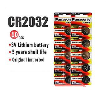 10pcs -cr2032 3v Lithium Battery For Watch Computer Remote Control Calculator Button Cell Coin Battery