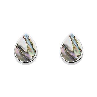 Dew Sterling Silver Pear Shape Paua Shell Stud Earrings 3061PA024