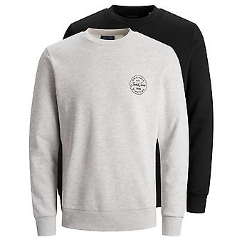 Jack & Jones More 2 Pack Sweatshirt Light Grey 59