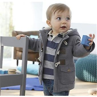 سترة شتوية للأطفال الرضع الدافئة، معطف الملابس الخارجية مقنعين