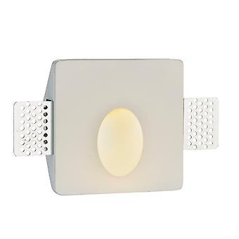Endon Lighting Jorn - Lampe murale intégrée Plâtre blanc 1 Lumière IP20