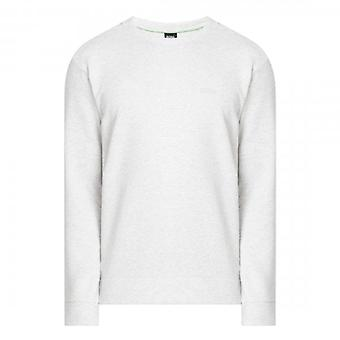 Boss Green Hugo Boss Salbo X Crew Neck Sweatshirt Light Grey Marl 50410319