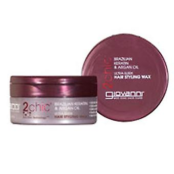 Giovanni Cosmetics Hair Styling Wax 2Chic, 2 oz(Case of 3)