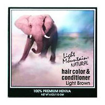 Light Mountain Natural Hair Color & Conditioner, Light-Brown 4 Oz