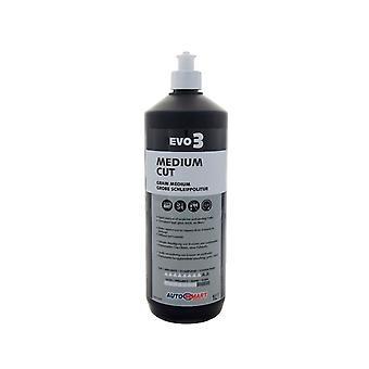 Autosmart evo 3 medium cut renovation compound scratch remover polish for cars - 1 litre